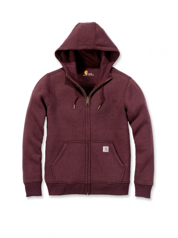 Carhartt Womens Clarksburg Full Zip Hoodie : Fudge Heather