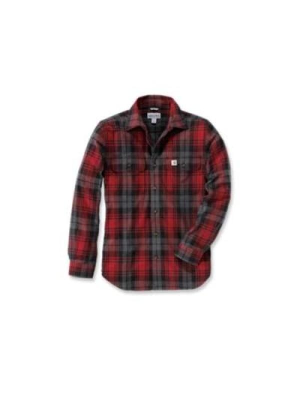 Carhartt Dark Crimson Hubbard Slim Fit Flannel Shirt