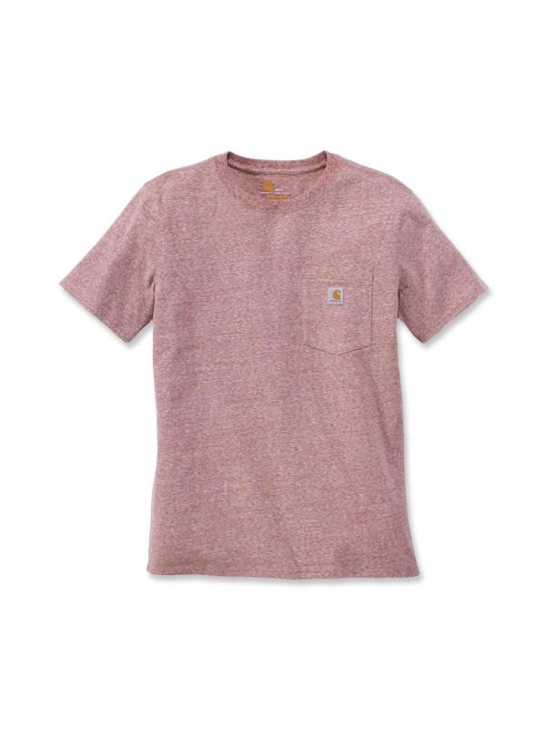 Carhartt Womens Pocket T-Shirt : Dark Red Heather