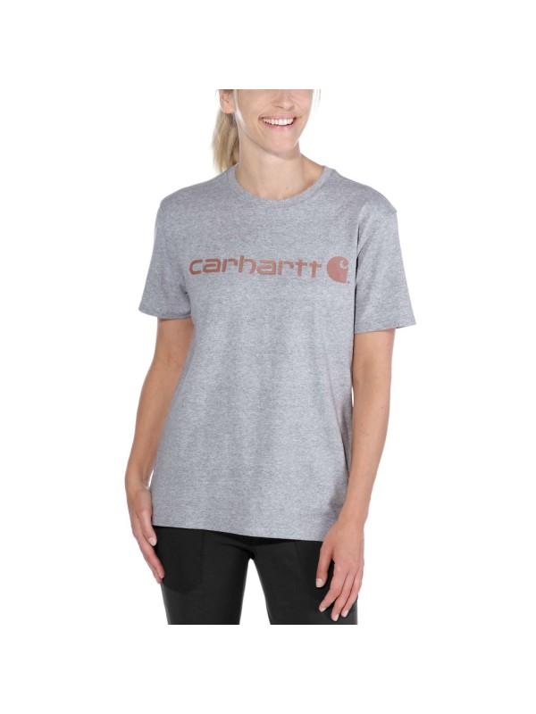 Carhartt Womens Core Logo T-Shirt : Heather Grey