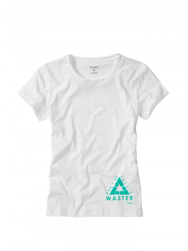 howies Waster Organic Cotton T- Shirt : White