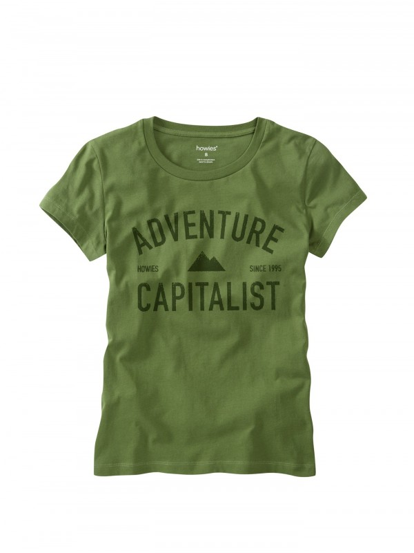 howies Adventure Capitalist Organic Cotton T- Shirt : Loxley