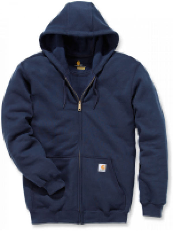 Carhartt Midweight Hooded Zip Front Sweatshirt : Navy