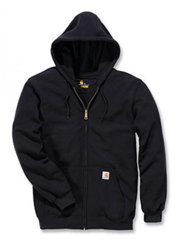 Carhartt  Midweight Hooded Zip Front Sweatshirt : Black