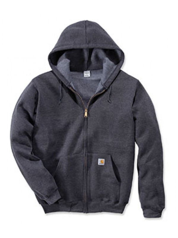 Carhartt Midweight Hooded Zip Front Sweatshirt : Carbon Heather