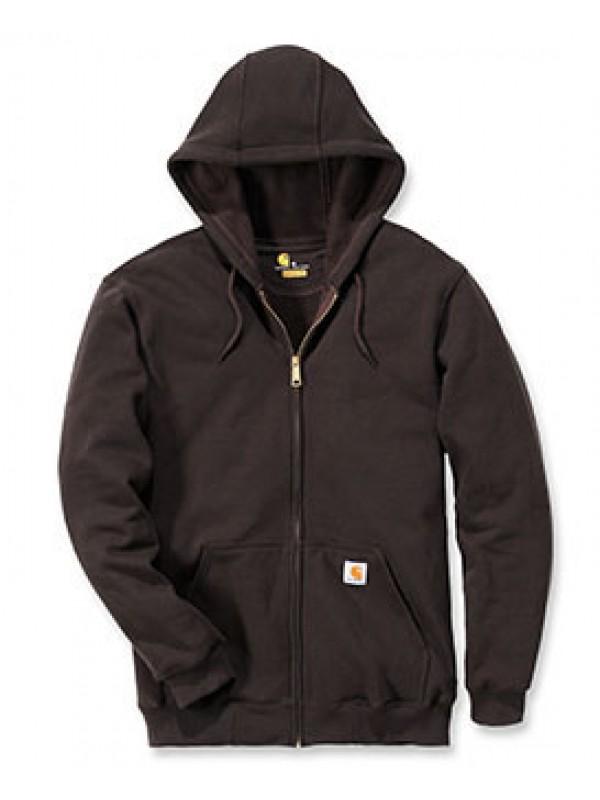 Carhartt Dark Brown Midweight Hooded Zip Front Sweatshirt