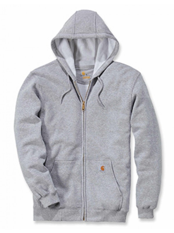 Carhartt Midweight Hooded Zip Front Sweatshirt : Heather Grey