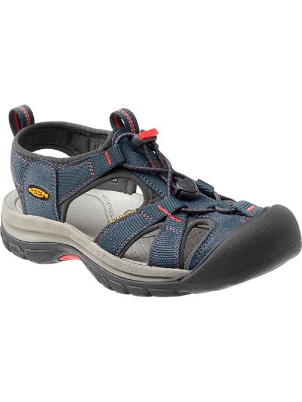 KEEN Women's Venice H2 : Midnight Navy/ Hot Coral