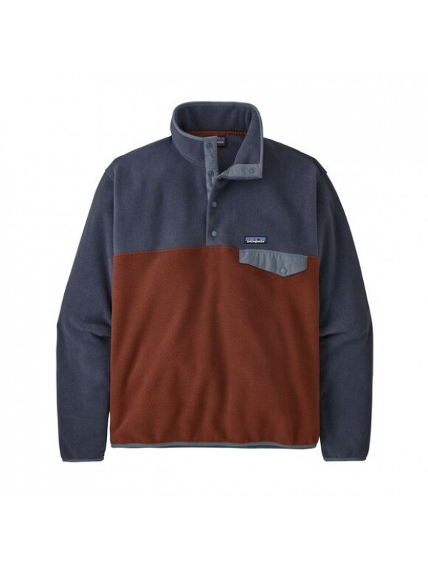 Patagonia European Fit Lightweight Synchilla® Snap-T Fleece Pullover : Fox Red