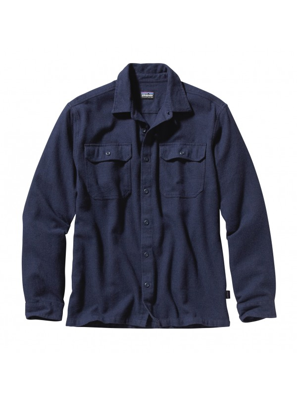 Patagonia Fjord Flannel Shirt : Navy Blue
