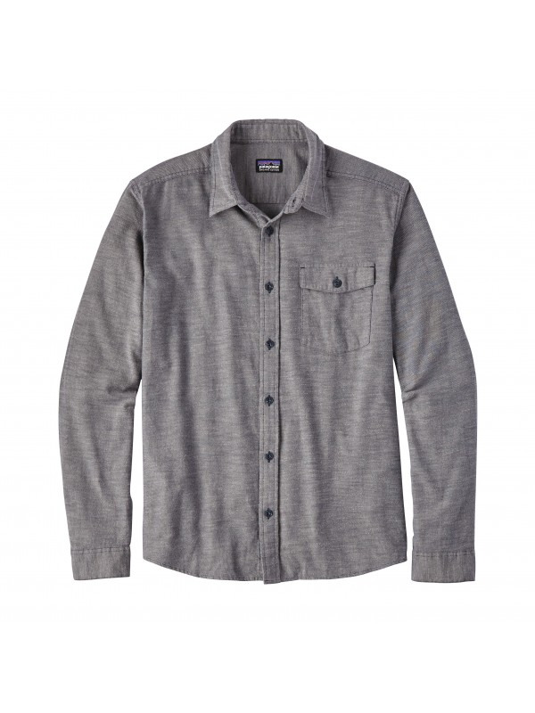 Patagonia Mens Chambray Navy  L/W Fjord Flannel Shirt