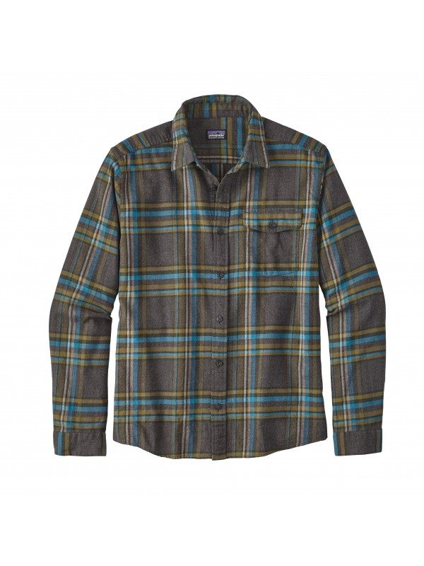 Patagonia Mens Forge Grey  L/W Fjord Flannel Shirt