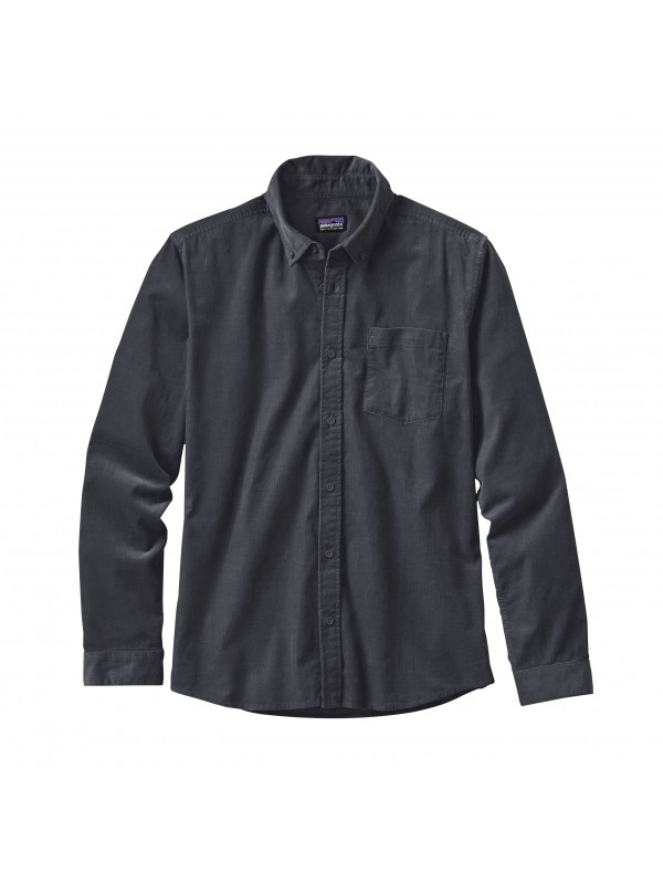Patagonia Forge Grey Long-Sleeved Bluffside Cord Shirt