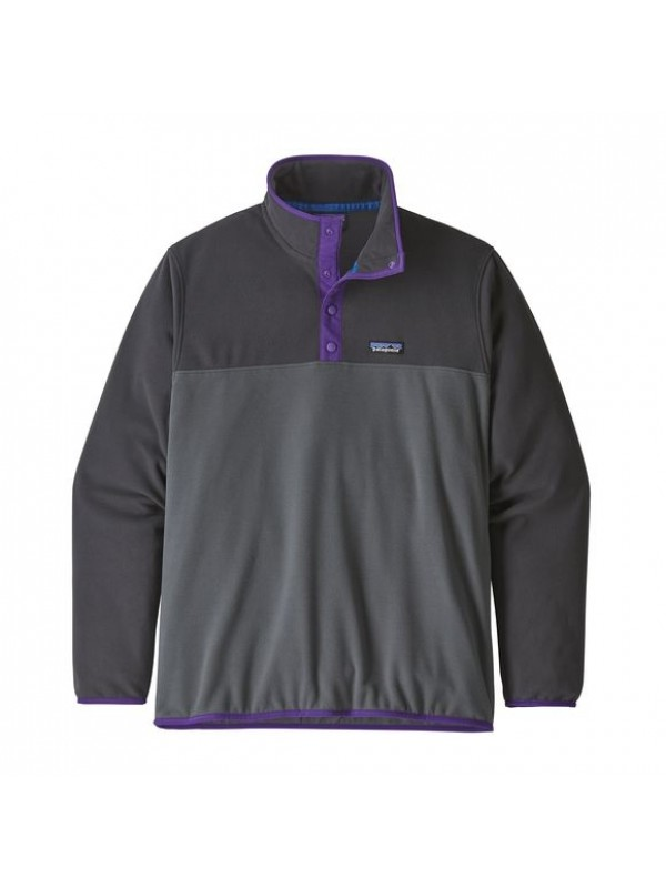 Patagonia Men's Micro D Snap-T Fleece Pullover : Forge Grey
