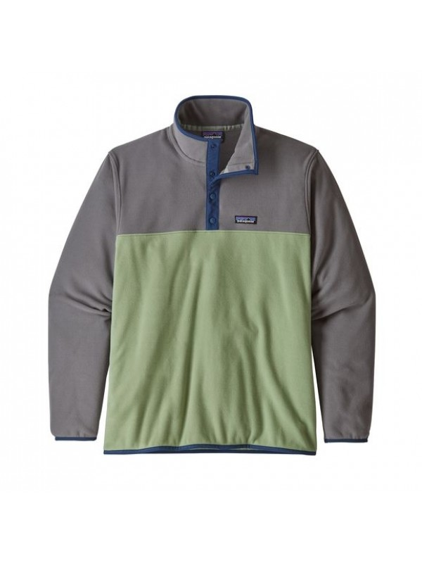 Patagonia Men's Micro D Snap-T Fleece Pullover : Matcha Green