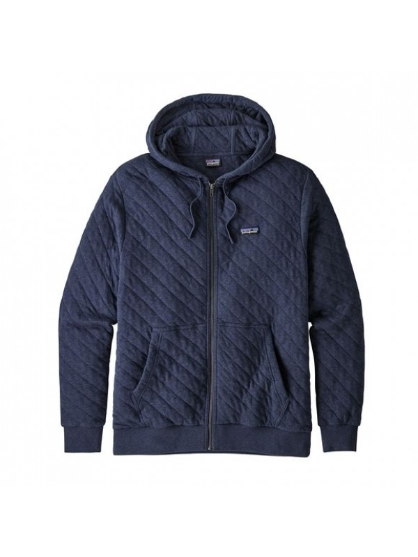 Patagonia Men's Organic Cotton Quilt Hoody : New Navy