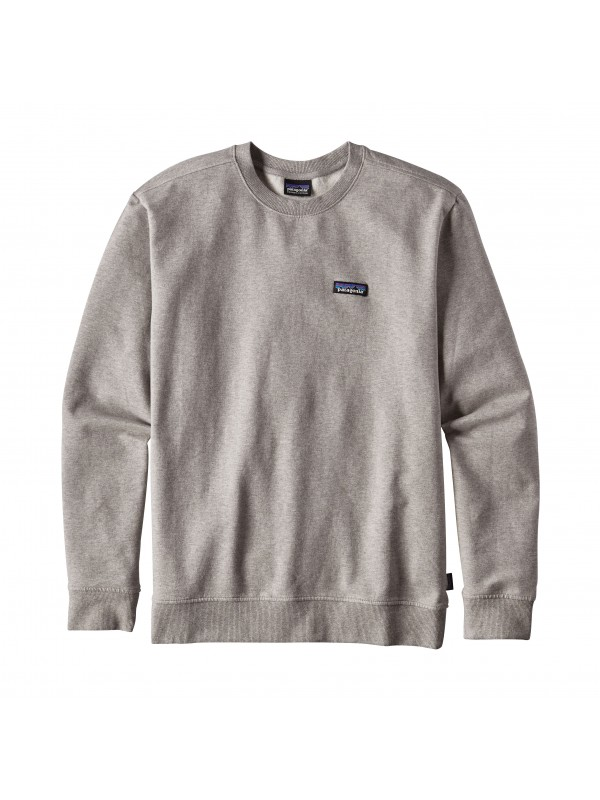 Patagonia Feather Grey P-6 Label Midweight Crew Sweatshirt
