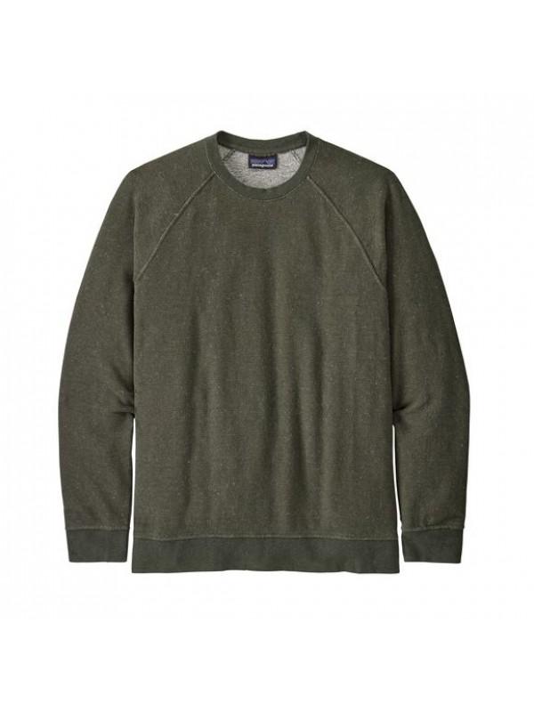Patagonia Men's Trail Harbor Crewneck Sweatshirt : Long Plains: Basin Green