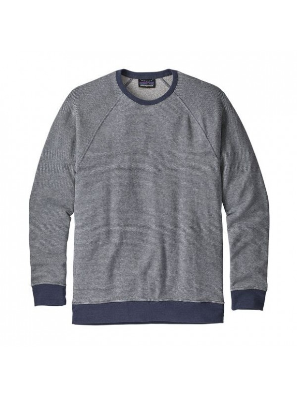 Patagonia Men's Trail Harbor Crewneck Sweatshirt : Long Plains: Dolomite Blue