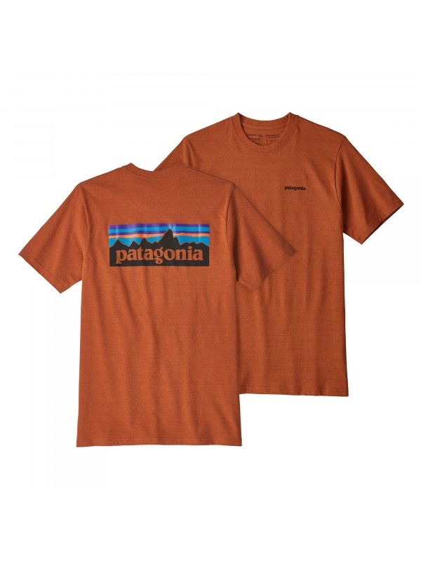Patagonia Mens  P-6 Logo Responsibili-Tee : Copper Ore