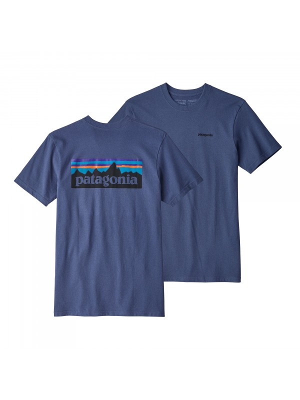 Patagonia Mens Dolomite Blue P-6 Logo Responsibili-Tee