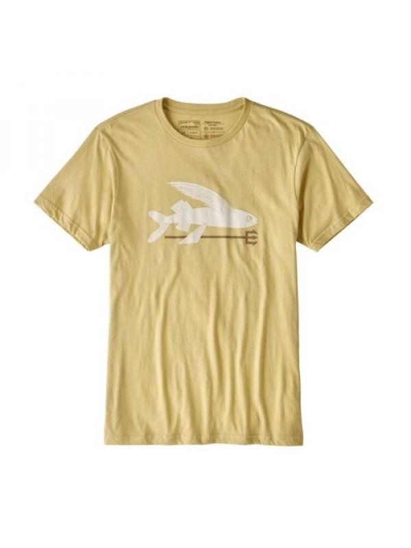 Patagonia Mens Limestone Flying Fish Organic Cotton T-Shirt