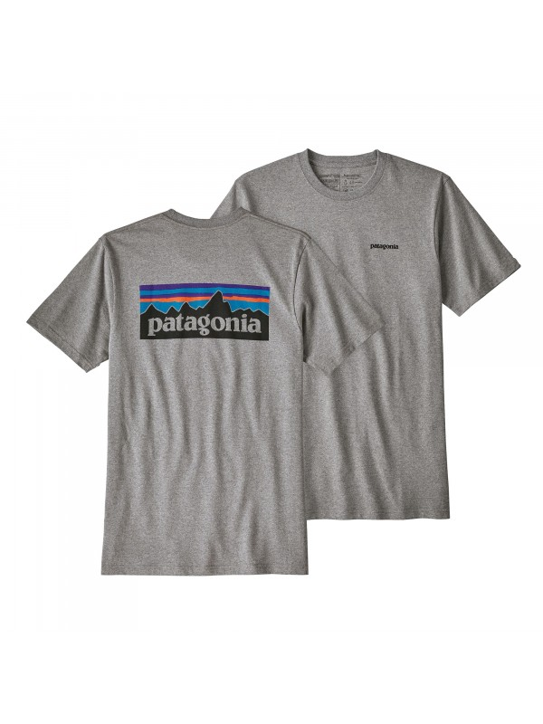 Patagonia Mens  P-6 Logo Responsibili-Tee : Gravel Heather