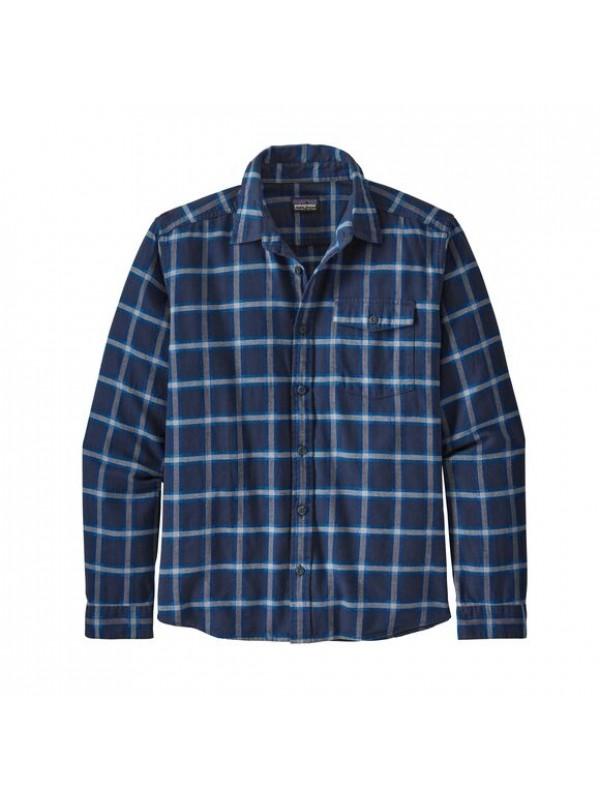 Patagonia Mens  L/W Fjord Flannel Shirt : Grange: New Navy