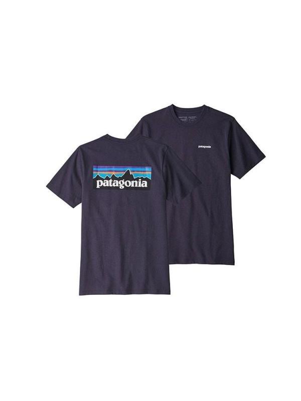 Patagonia Mens Piton Purple P-6 Logo Responsibili-Tee