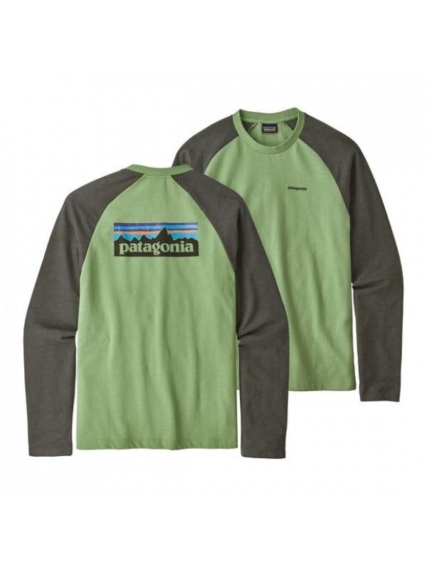 Patagonia P-6 Logo Lightweight Crew Sweatshirt : Matcha Green