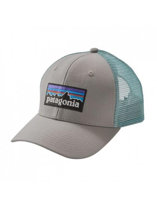Patagonia P6 Trucker Hat : Drifter Grey w/Dam Blue
