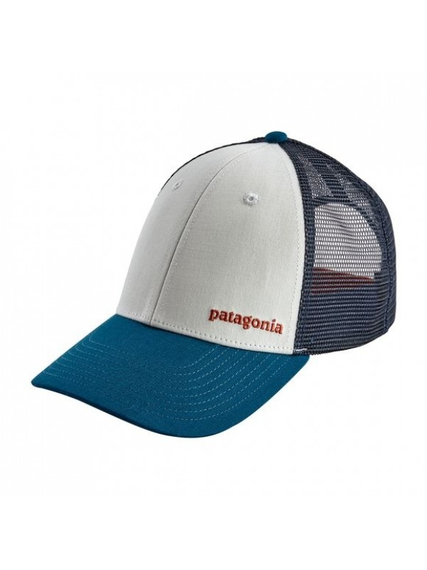 Patagonia Small Text Logo LoPro Trucker Hat : White