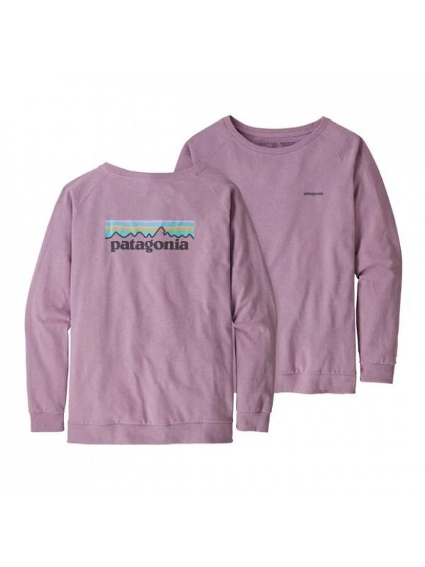 Patagonia Womens Long-Sleeved Pastel P-6 Logo Responsibili-Tee : Verbena Purple