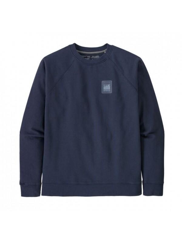 Pategonia Mens Alpine Icon Regenerative Organic Cotton Crew Sweatshirt  : New Navy