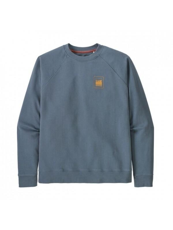 Pategonia Mens Alpine Icon Regenerative Organic Cotton Crew Sweatshirt  : Plume Grey