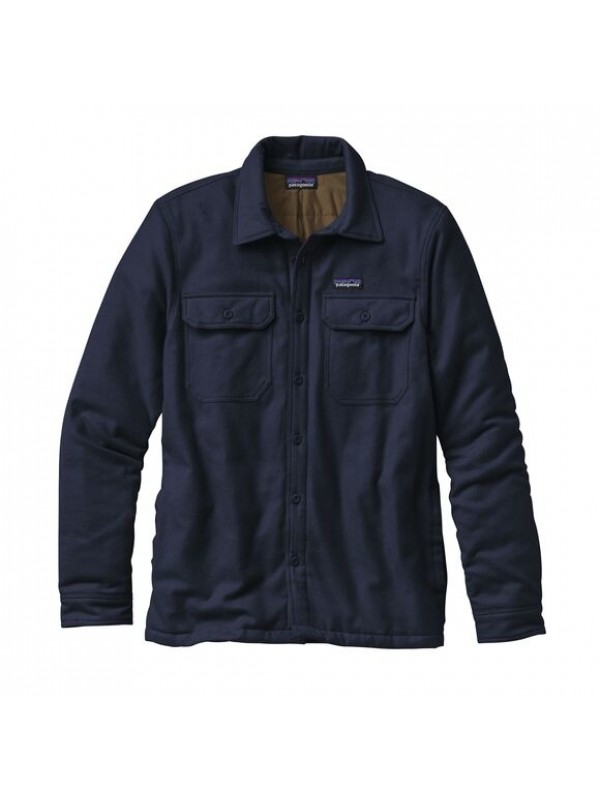 Patagonia Insulated Fjord Flannel Shirt Jacket : Navy Blue