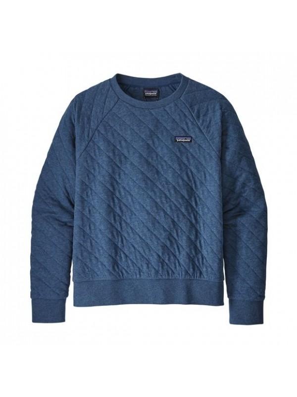 Patagonia Women's Organic Cotton Quilt Crew  : Stone Blue