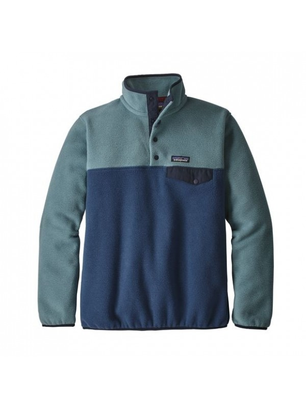 Patagonia Women's Lightweight Synchilla Snap-T Fleece Pullover: Stone Blue