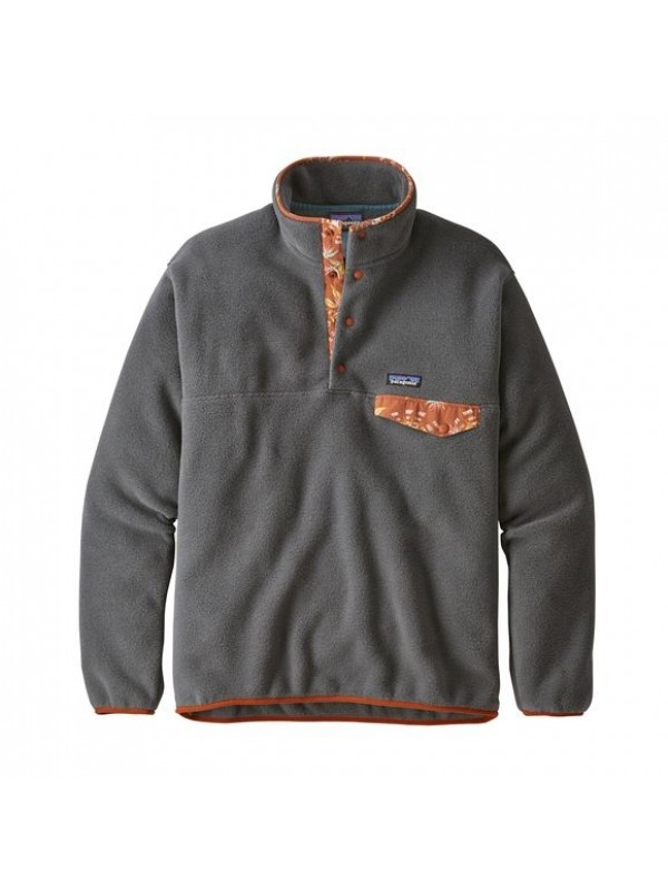 Patagonia Forge Grey European Fit Lightweight Synchilla® Snap-T Fleece Pullover