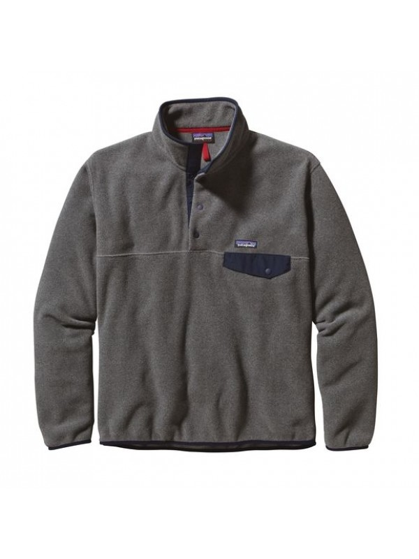 Patagonia Nickel w Navy Blue European Fit Lightweight Synchilla® Snap-T Fleece Pullover