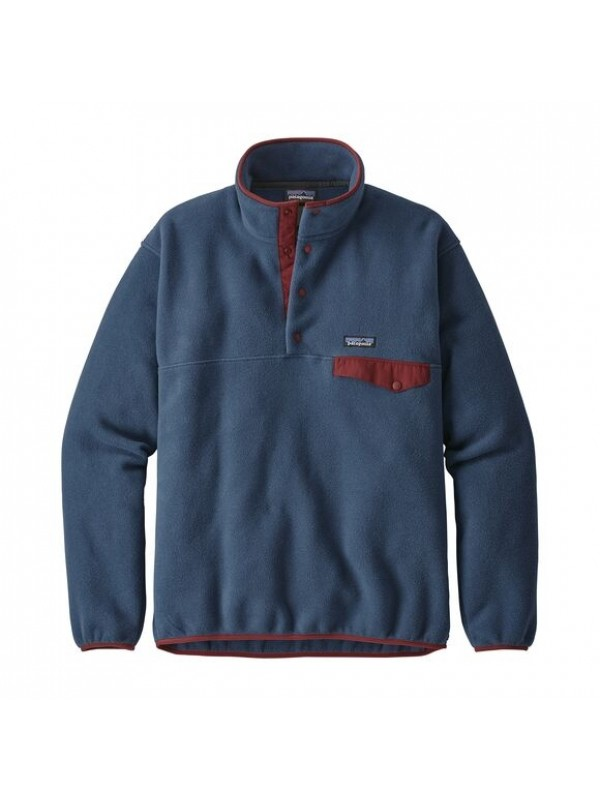 Patagonia European Fit Lightweight Synchilla® Snap-T Fleece Pullover : Stone Blue