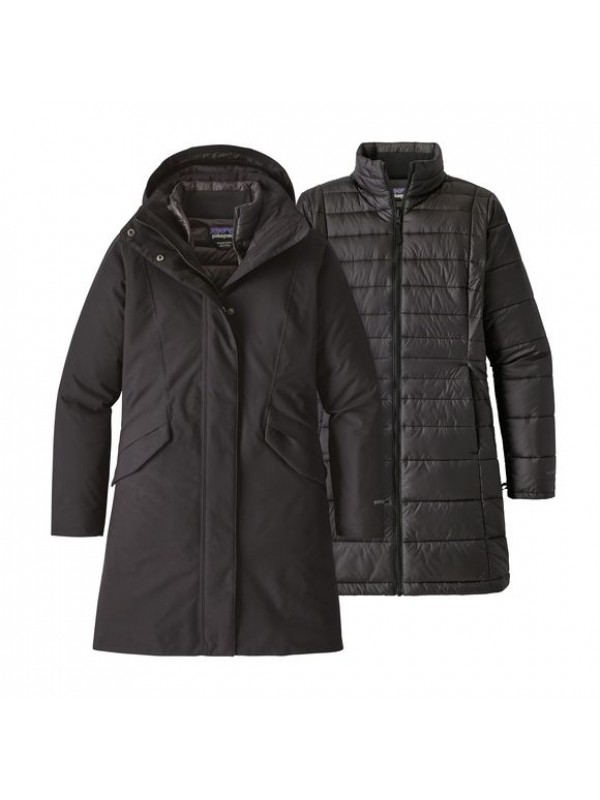 Patagonia Womens Black Vosque 3-in-1 Parka