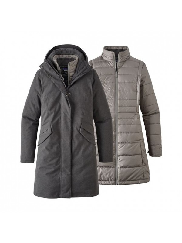 Patagonia Womens Vosque 3-in-1 Parka : Forge Grey