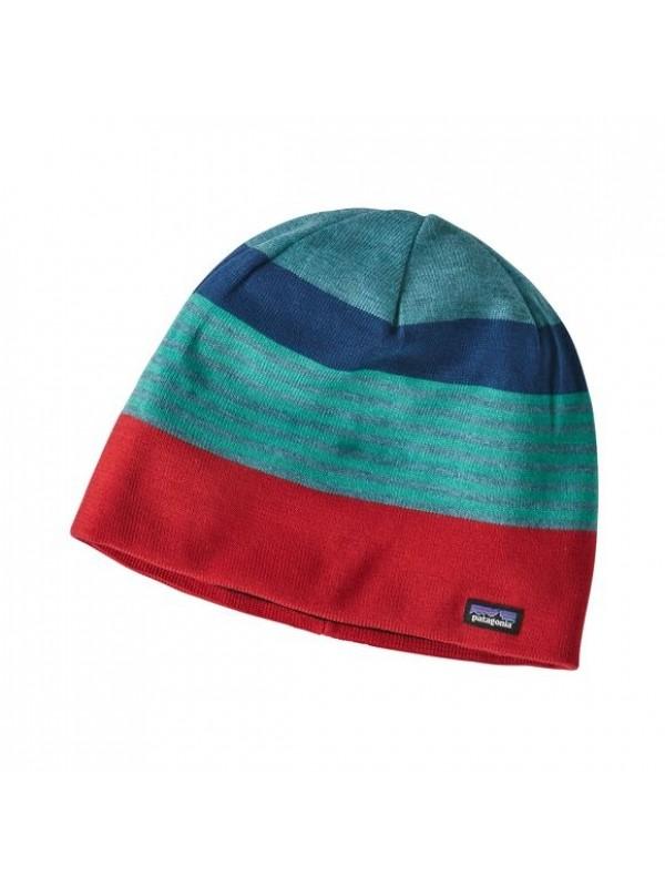 Patagonia Beanie Hat- Fitzroy Stripe: Tomato(FSTO)-One Size