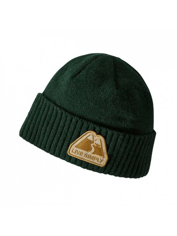 Patagonia Brodeo Beanie-  Live Simply Winding: Micro Green