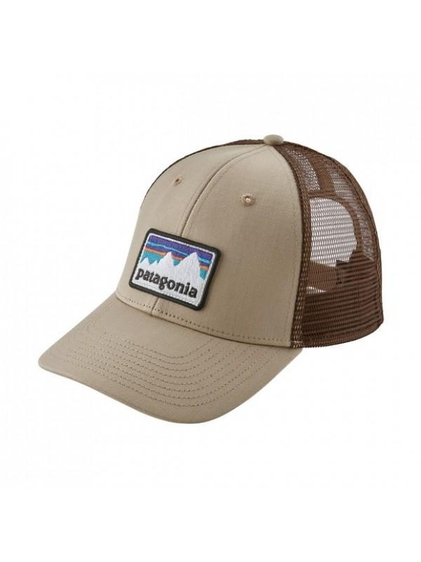 Patagonia Shop Sticker Patch LoPro Trucker Hat- El Cap Khaki (ELKH-836) fcb35b40f86d