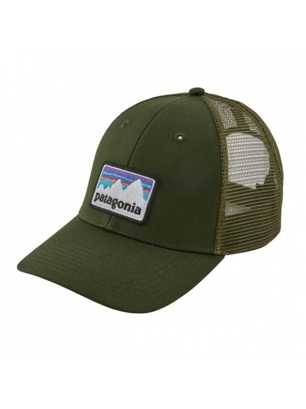 Patagonia Shop Sticker Patch LoPro Trucker Hat-Nomad Green (NOMG)