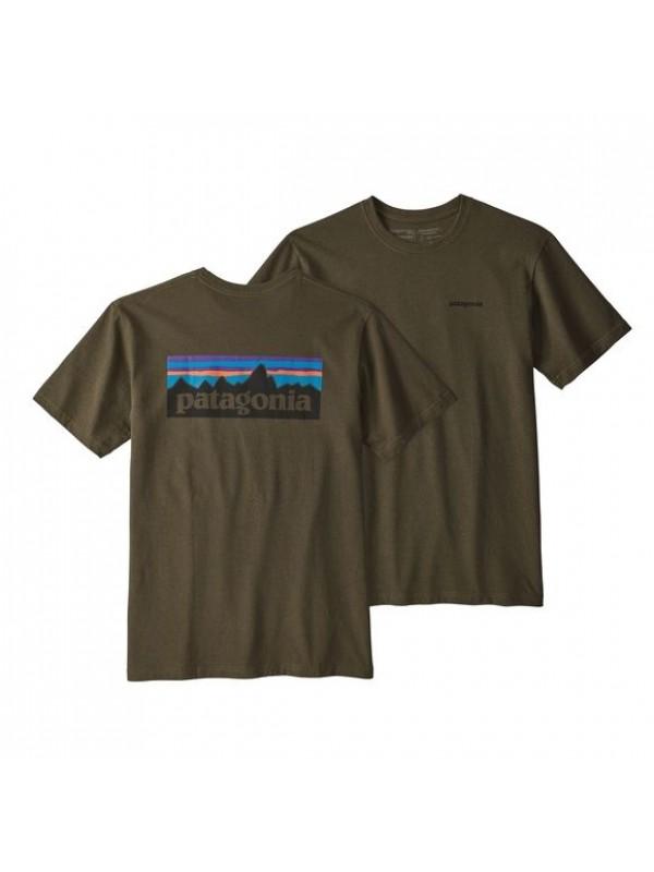 Patagonia Mens P-6 Logo Responsibili-Tee : Sediment