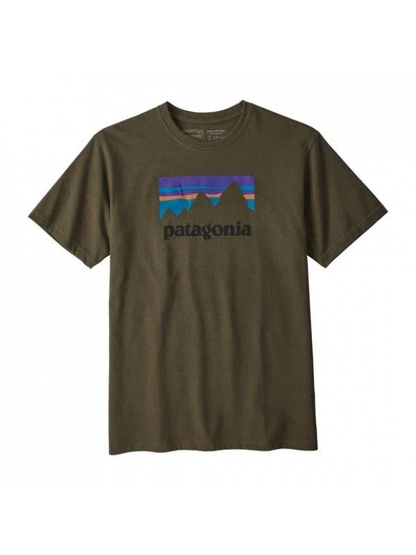 Patagonia Mens Sediment Shop Sticker Responsibili-Tee