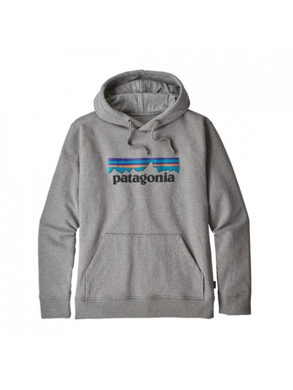 Patagonia Men's P-6 Logo Uprisal Hoody : Gravel Heather